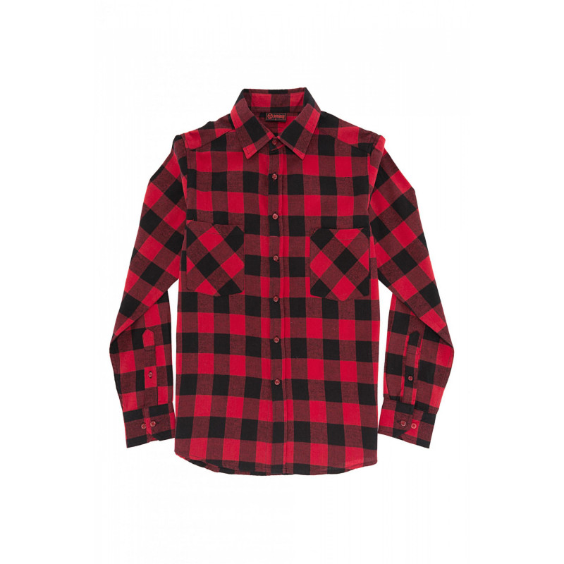 02a555a6e Camisa Cuadros Roja y Negro
